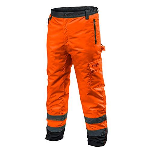 NEO TOOLS Profi Thermo Warnschutzhose EN 20471 Warnhose orange gelb Arbeitshose Warnschutz Sicherheitshose XL orange