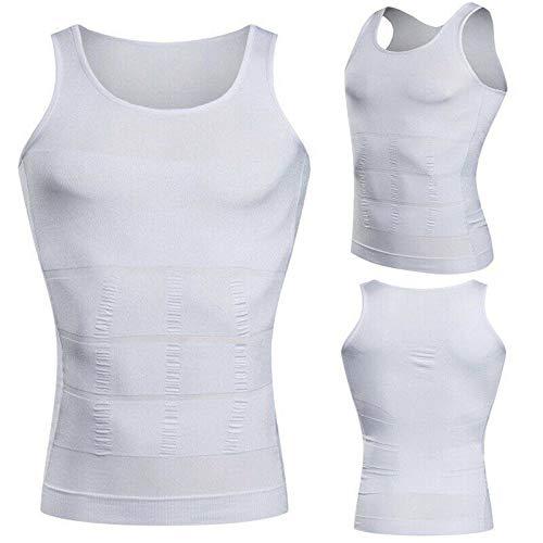 Chaleco de compresión para hombre para adelgazamiento, cintura elástica y delgada, control del vientre