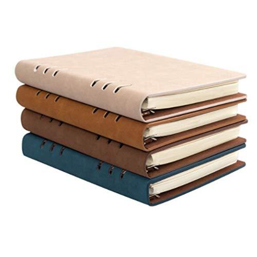 Cuadernos de taquigrafía Libreta de Notas de Hojas Sueltas Reutilizable/Piel Simple Libro de Registro de la reunión Simple de Oficina/Desmontable, Logotipo Personalizable Cuaderno de Tapa Dura