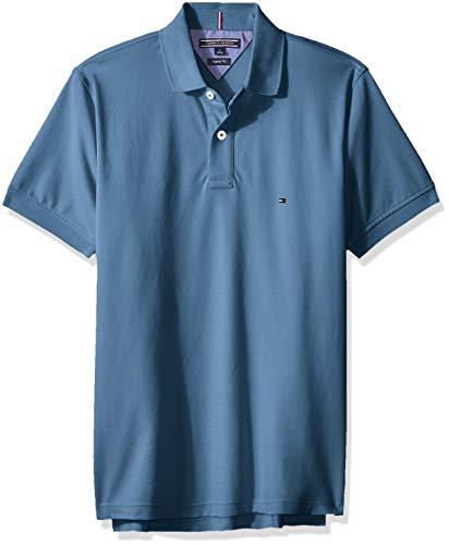 Tommy Hilfiger Herren Poloshirt Tommy Regular Polo Regular Fit (M, Hellblau)