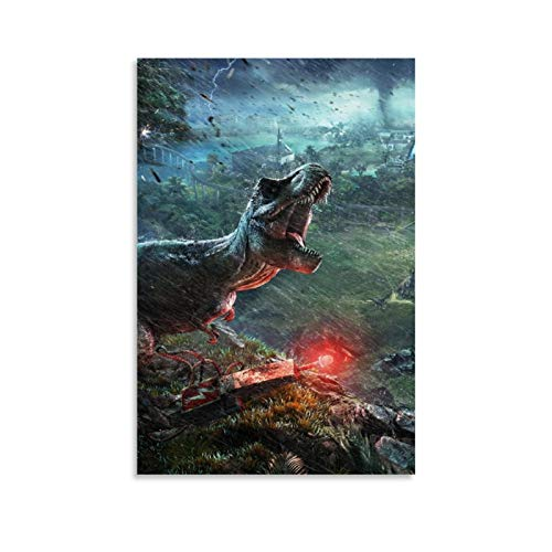 DRAGON VINES Jurassic Park The Breath of Horror Modern Oil Painting Mural Cartoon comics 30x45cm