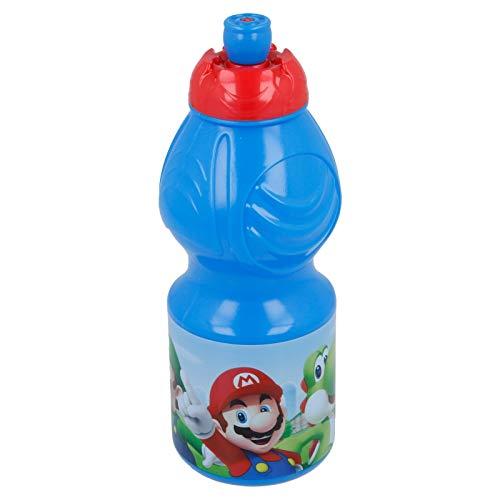 2710; Super Mario Sportflasche; Kunststoff-Produkt; BPA frei; 400 ml Fassungsvermögen; Flasche Wasser