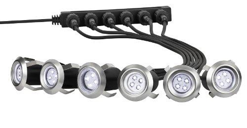 6 X LED Einbaulampen Steckerfertig!! Terrassenbeleuchtung, Stiegenbeleuchtung Bodenlampen, Einfahrt Einbaustrahler Terrasse,Einfahrt Bodenstrahler , Möbellampen, Gartenstrahler, Gehweg Treppe Beleuchtung, Stiege