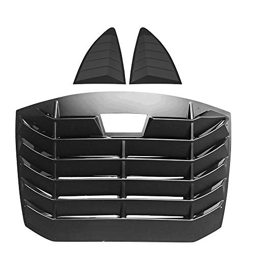 IKON MOTORSPORTS | Window Louver Compatible With 2013-2020 Scion FR-S Subaru BRZ, IKON Style,Rear Louver and Side Quarter Scoop Louvers