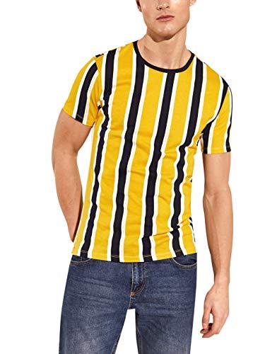 LC WAIKIKI - Camiseta de manga corta para hombre, cuello redondo