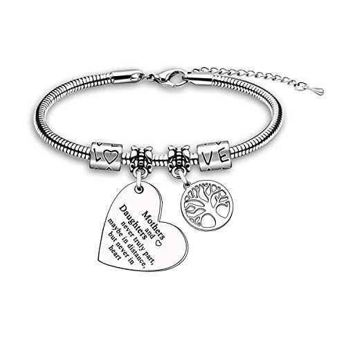 Mum Gift Daughter Gift Charming Bracelet Bangle Jewellery Gift Christmas Birthday Gift