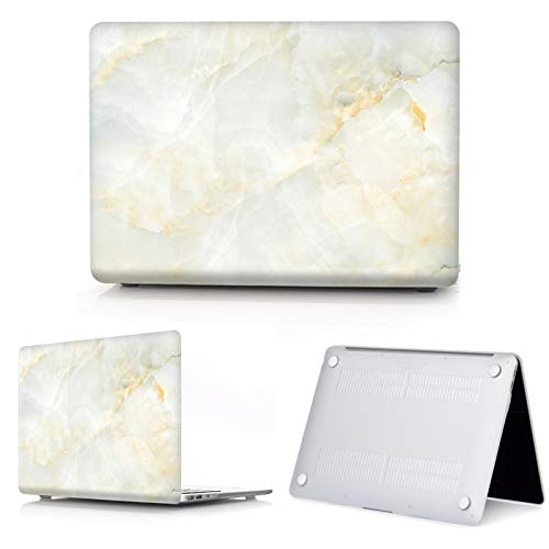 New Marble Laptop Case for Macbook Touch ID Air 13 case A1932 Pro 12 16 15 11 inch shell For Macbook Pro 13 case +Keyboard Cover-S2-Model A1502 A1425