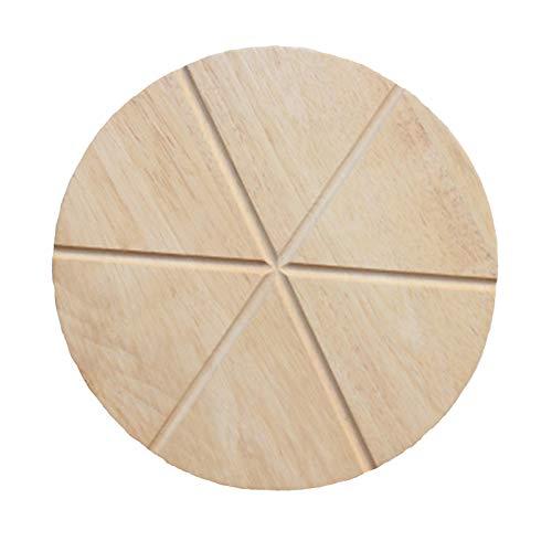 Schneidebrett aus Holz Servieren von Pizza Pizza-Holzteller Natur Pizzateller Pizzabrett Bambus Schneidebrett Küchenbrett aus Natur-Holz Für Küche Steak Familie Kuchen Pizza Brot Antipasti Obst
