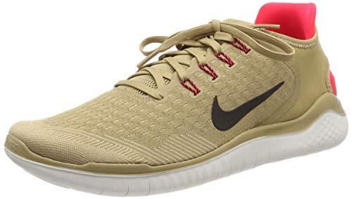 Nike Men's Free Rn 2018 Running Shoes, Multicolour (Parachute Beige/Black/Red Orbit 201), 6 UK
