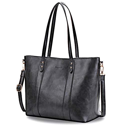 Bageek Borsa Donna Borsa a Mano Tracolla Borsa Tote Pelle Artificiale A4 Borsa Lavoro Donna Shopping Bag Borsa Shopper Donna (Grigio scuro)
