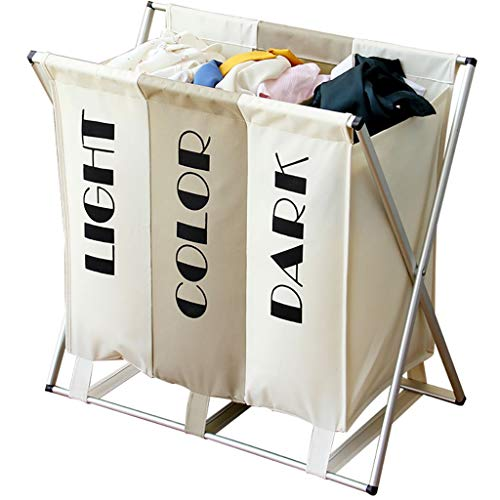 YY Box 109L inklapbare wasmand met handvat en aluminium beugel verwijderbaar en wasbaar grote waszak