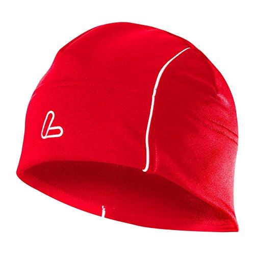 LÖFFLER Windstopper Bonnet Thermique Rouge