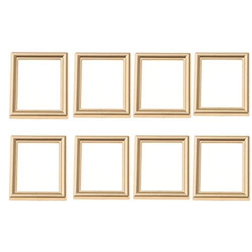 MagiDeal Goldenes Quadrat Leeren Fotorahmen Puppenhaus Miniaturmöbel Für Maßstab 1/12