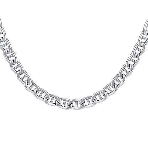 SILVEGO – TTTMAR5N – Collar Unisex de Plata 925 Cadena de Marino Anchura 5 mm
