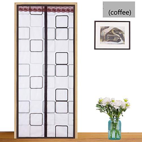 TYX HOME Airconditioning, gordijn, keuken, anti-rook, muggen, magnetische scheidingswand, gordijn, zacht scherm, deur, zomer, huis, slaapkamer, kunststof doorschijnend, C, 80 x 210 cm