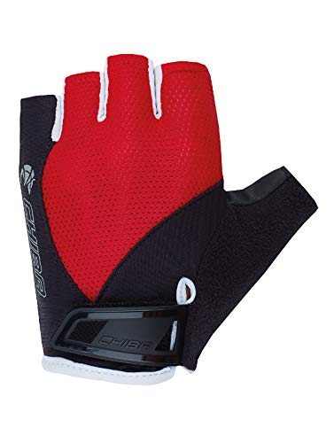 Chiba Youth Kinder Fahrrad Handschuhe kurz rot/schwarz 2020: Größe: XS/S (6.5)