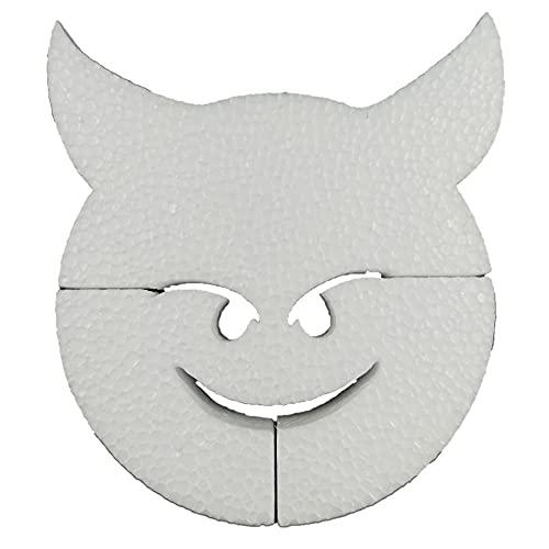 DecoPorex - Emoji Demonio 20cm eps para Adorno y Manualidades - 0526