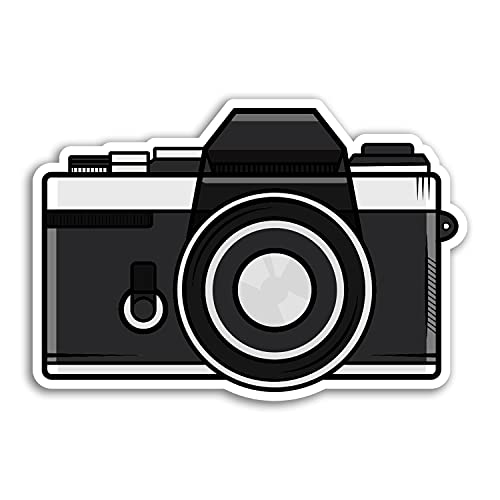 2 x 10cm Wide Retro Film Camera Vinyl Stickers - Photography Vintage Sticker #29947