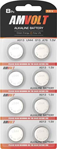 LR44 AG13 Battery - [Ultra Power] Premium Alkaline 1.5 Volt Non Rechargeable Round Button Cell Batteries for Watches Clocks Remotes Games Controllers Toys & Electronic Devices (8 Pack)