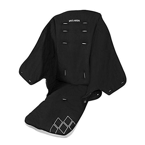 Maclaren Asiento Techno XT, Asiento Reemplazable y lavable a máquina que se adapta a los Buggies Techno XT, Negro/ Plateado