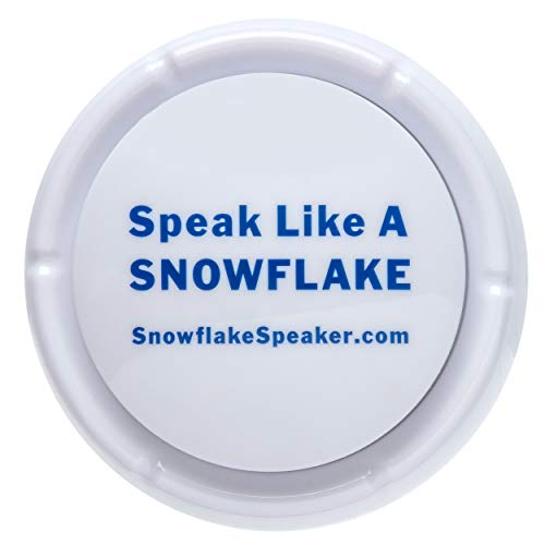 Speak Like A Snowflake Gag Talkie Button | Break The Ice with Many Hilarious Statements at The Push of a Button.