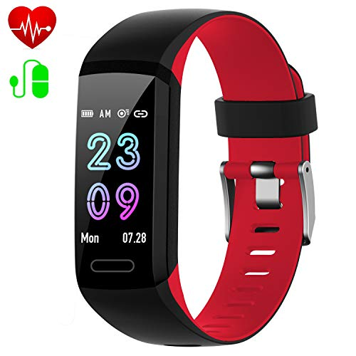 Fitness Tracker, Activity Tracker with Heart Rate & Blood Pressure & Sleep Monitor,IP67 Waterproof [2019 Version] Android iOS Smart Watch,Pedometer Calorie Counter,Call/SMS Reminder for Kids Women Men