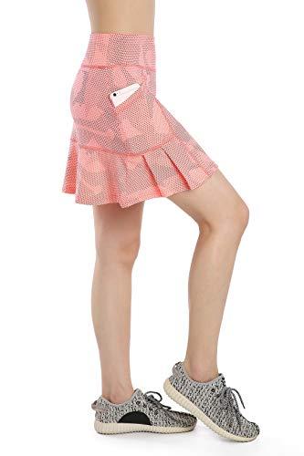Annjoli Womens Skort Active Athletic Skirt for Running Tennis Golf Workout Sports Skorts (S, 619-12-3)