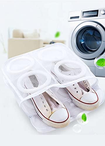 シューズ洗濯ネット スニーカー サンダル 上履き スリッパ 上靴 そのまま干せる 靴用洗濯ネット シューズランドリーネット ホワイト シューズ洗い専用