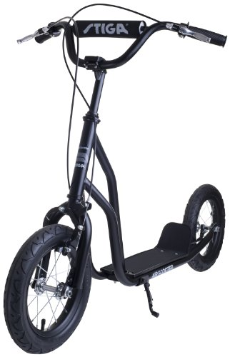Stiga Sports Air Scooter - Patinete, color negro, talla 12""