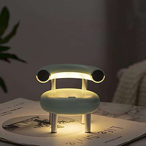 Luz nocturna para niños, lámpara de noche con control táctil, regulable en frío/calor, 800 mAh, batería recargable, para niños y estudios [Clase de eficiencia energética A+++]