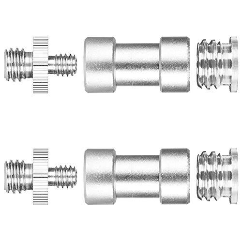 WIFUN 2 Set 1/4' Male to 3/8' Camera Thread Adapter, Converter Threaded Screws Tripod Adapter Mount for Camera Monopad Tripod Monopod Ballhead (2* 1/4-3/8 double head screw,2*BE screws,2*small screws)