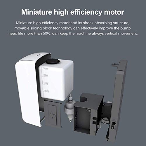 Dispenser automatico di sapone – Dispenser di sapone senza contatto – 1000 ml – adatto per luoghi pubblici – Non è necessario collegare – Portatile.