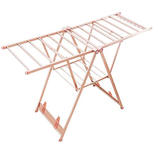 YXZN Tendedero Plegable para Ropa, tendedero con alas, Espacio de Secado de 1,6 Metros, secador de Aire Multifuncional, tendedero para Ropa, tendedero con Altura Ajustable