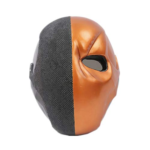 X-COSTUME Deathstroke Cosplay Mask, Arkham Knight Helmet Full Head Mask Replica Cosplay Prop 1:1 for Adult