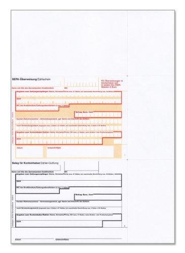 bits&paper BP0107 SEPA-Überweisung/Zahlschein (100 Blatt, A4, bankneutral) Überweisung mt Quittung