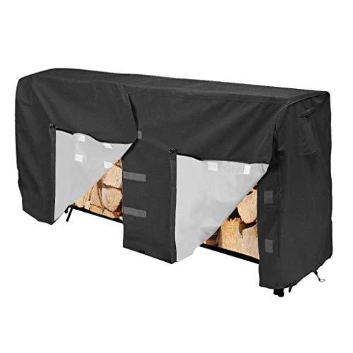 Risareyi Bois de chauffage Log Rack Couverture for intérieur extérieur, 420D Oxford Tissu imperméable robuste bois couverture, for garder la pluie Out protégé rack (Size : B(8ft))