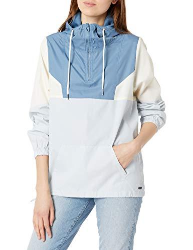 Volcom Women's Wind Stoned Lightweight Quarter Zip Windbreaker Jacket, Pale BLUE, L