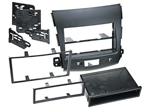 Preisvergleich Produktbild Radioblende für Citroen C-Crosser (V),  2-DIN mit Fach,  schwarz,  Bj. 07 / 2007 - 03 / 2013