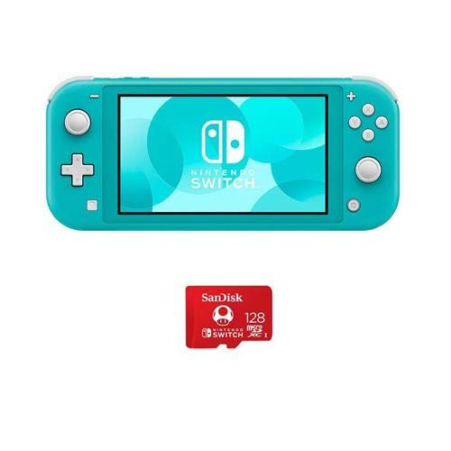 Nintendo Switch Lite, Turquoise - with SanDisk 128GB UHS-I microSDXC Memory Card for The Switch