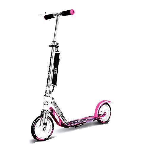 LIYANJJ Scooters Deportivos Pro City Street Scooter de Altura Ajustable, Sistema Plegable de liberación rápida con Frenos Traseros, Ruedas inflables, Estructura de Acero, Tabla de pie Ancha Unisex
