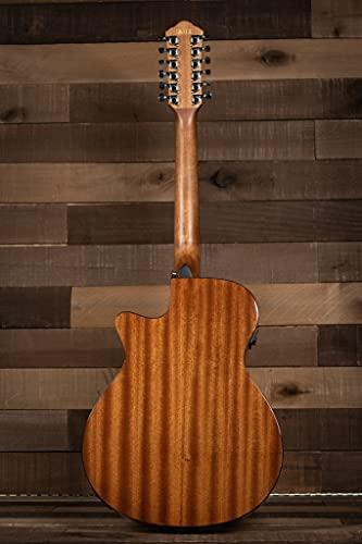 Ibanez AEG5012 AEG Series Single-Cutaway 12-String Acoustic-Electric Guitar, Dark Violin Sunburst