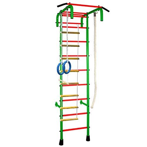 Untitled STM-Sport | Sprossenwand - 4 mit breiter Griff | Kletterwand für Kinderzimmer | Grün - Orange | Kinderturngerät| Wandmontage | Klettergerüst | Trainingsgerät | Gymnastics | Bis Zu 100 kg