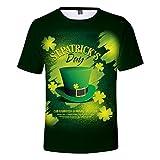 DEELIN Tee-Shirt Casual Hommes Eté,Unisexy Saint Patrick Impression Numérique Col Rond Manches Courtes T-Shirt Vert