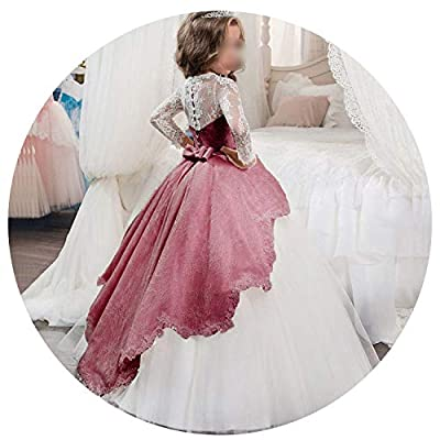 Princess Girls Dress 2019 Summer Lace Performance Evening Party Dress Kids Dresses for Girls Wedding Dresss