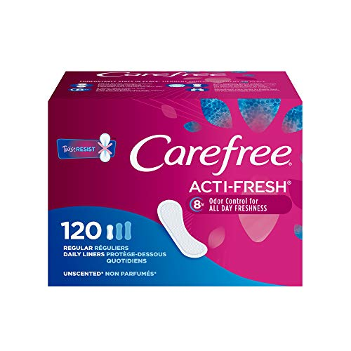 Carefree Carefree Acti-Fresh Ultra-Thin Panty Liners, Regular, Unscented - 120 Count