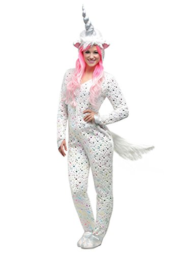 Women's Magical Unicorn Costume Adult Unicorn Onesie Hooded Small White - http://coolthings.us