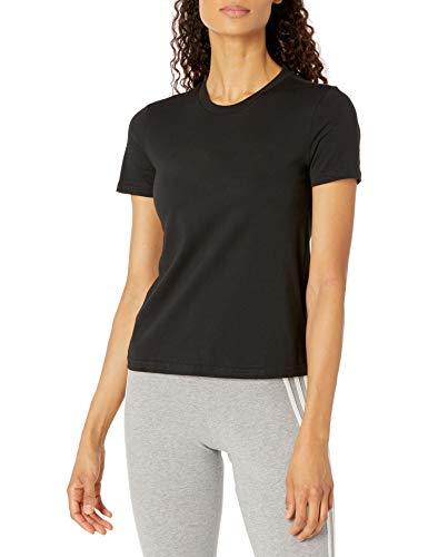 adidas womens Linear T-Shirt Black/White X-Small