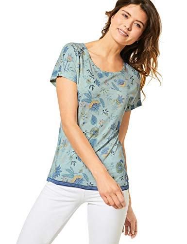 Cecil Damen 315166 TOS Shape T-Shirt, Molecule Mint Green Melange, Medium