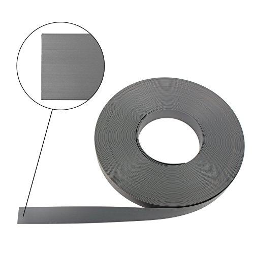 Polyplastic 10 Meter Abdeckband 23mm grau Kunststoff Fensterband für Wohnwagen und Wohnmobil
