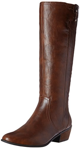 Dr. Scholls Shoes womens Brilliance Riding Boot, Whiskey, 7.5 US